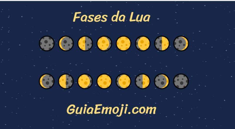 aprender fases da lua com emojis