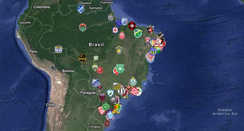 todos os clubes participantes da copa do brasil