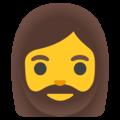 mulher com barba